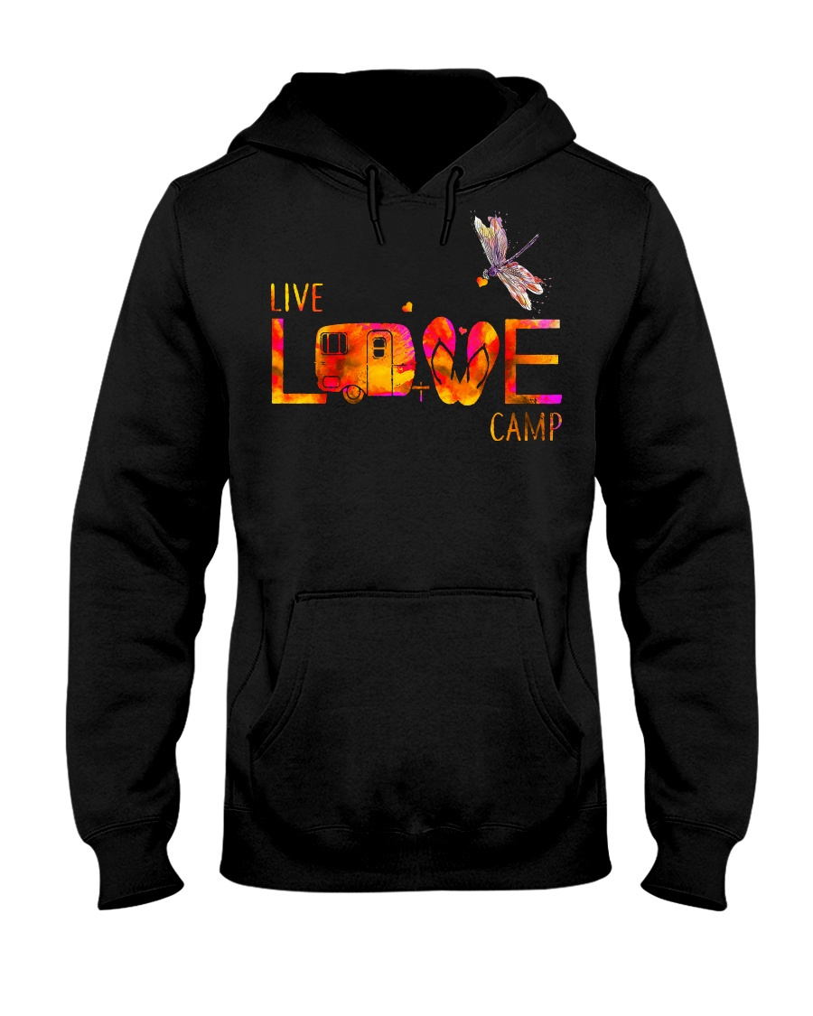 Camping live and love Hooded Sweatshirt