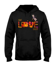 Camping live and love Hooded Sweatshirt front