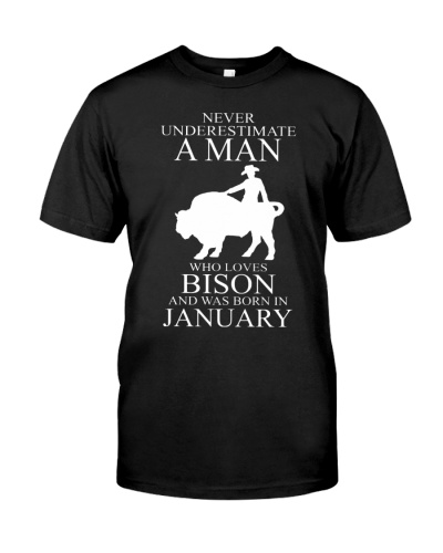 A man who loves bison and was born in january