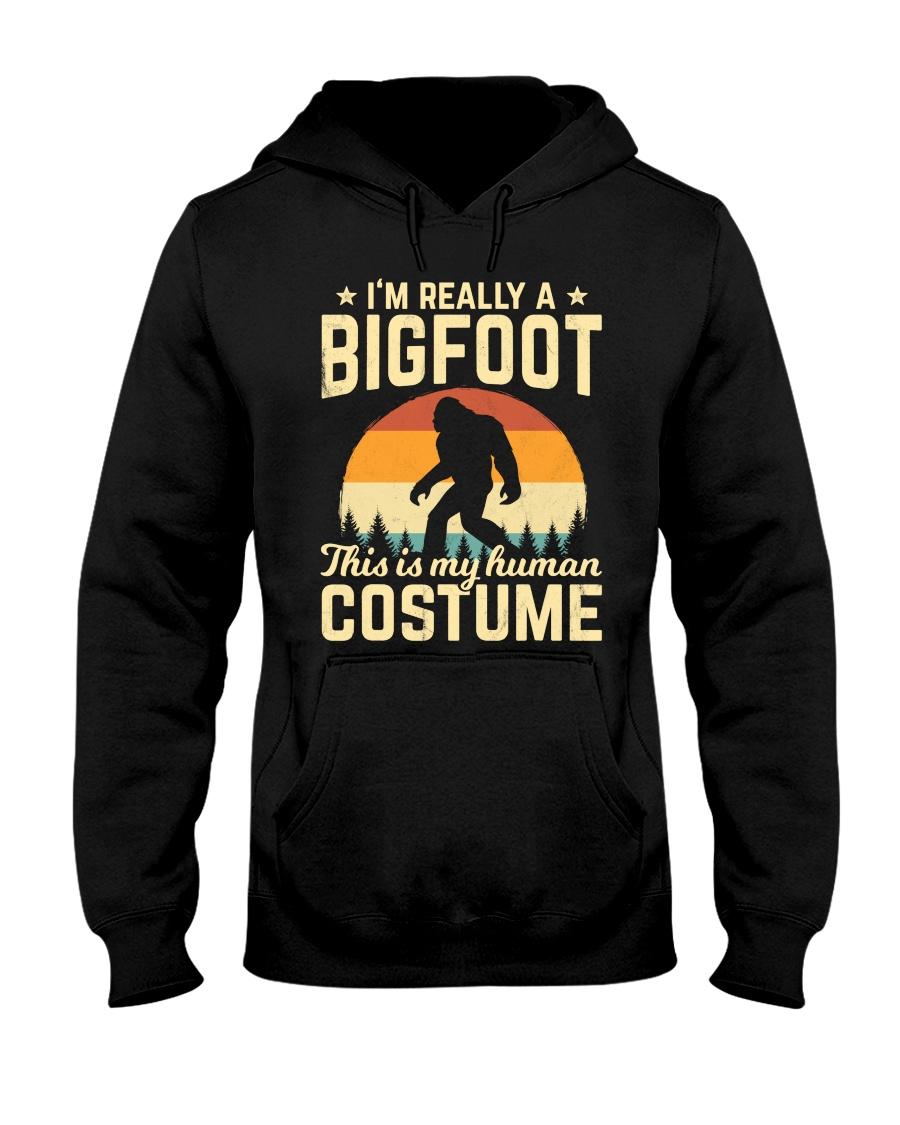 Retro Vintage Silhouette Bigfoot Hooded Sweatshirt