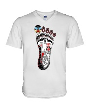 Tribal Bigfoot V-Neck T-Shirt thumbnail