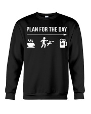 disc dog plan for the day men Crewneck Sweatshirt tile