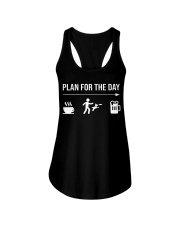 disc dog plan for the day men Ladies Flowy Tank tile