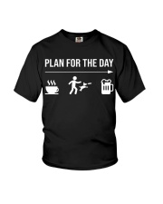 disc dog plan for the day men Youth T-Shirt tile