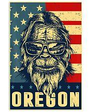 Bigfoot oregon american flag poster 24x36 Poster front