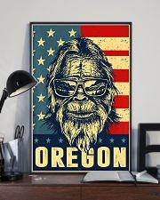 Bigfoot oregon american flag poster 24x36 Poster lifestyle-poster-2