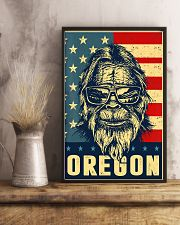 Bigfoot oregon american flag poster 24x36 Poster lifestyle-poster-3