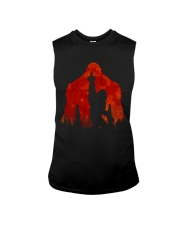 Bigfoot middle finger in the forest ver red moon Sleeveless Tee thumbnail