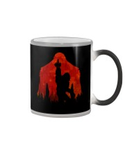Bigfoot middle finger in the forest ver red moon Color Changing Mug thumbnail