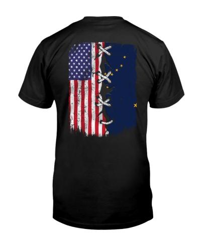 Alaska and American flag 0037