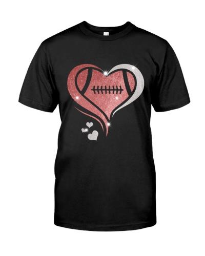 I love football heart design