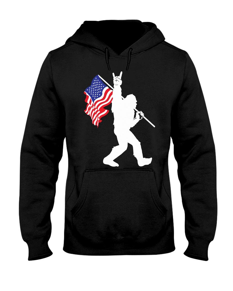 Bigfoot Flag USA Hooded Sweatshirt