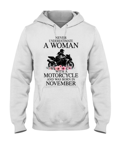 Never underestimate a November motorcycle woman