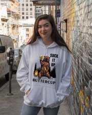 Suck It Up Buttercup - Go Camping Hooded Sweatshirt lifestyle-unisex-hoodie-front-1
