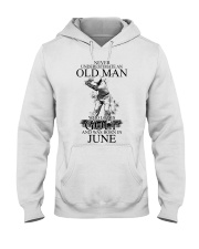 Never underestimate a man loves golf - June Hooded Sweatshirt front