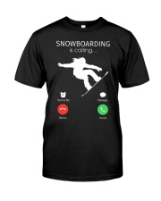 Snowbroading is calling Classic T-Shirt tile