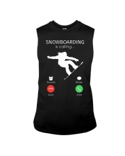 Snowbroading is calling Sleeveless Tee tile