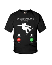 Snowbroading is calling Youth T-Shirt thumbnail