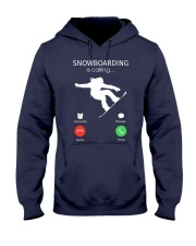 Snowbroading is calling Hooded Sweatshirt tile