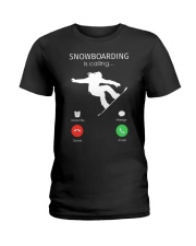 Snowbroading is calling Ladies T-Shirt tile