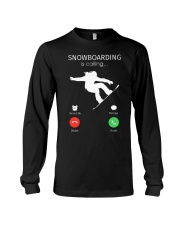 Snowbroading is calling Long Sleeve Tee thumbnail