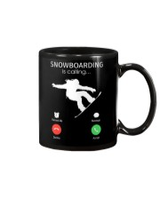Snowbroading is calling Mug tile