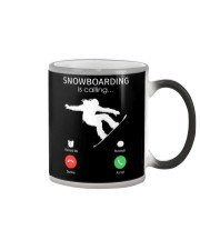 Snowbroading is calling Color Changing Mug tile