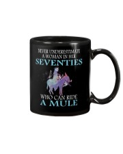 Never Underestimate Woman Mule Seventies PT Mug thumbnail