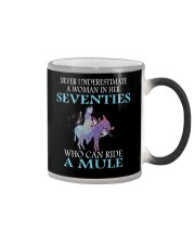 Never Underestimate Woman Mule Seventies PT Color Changing Mug thumbnail