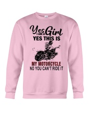 Yes I'm a Girl This is my Motorcycle 9997 Crewneck Sweatshirt thumbnail