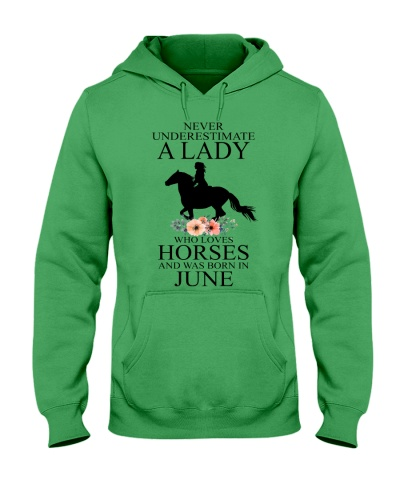 A lady who loves horses and was born in June