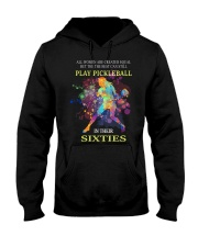Pickleball - creat equal sixties Hooded Sweatshirt thumbnail