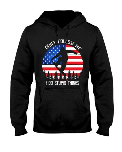 Bigfoot Snowboarding - Don't follow me USA Flag