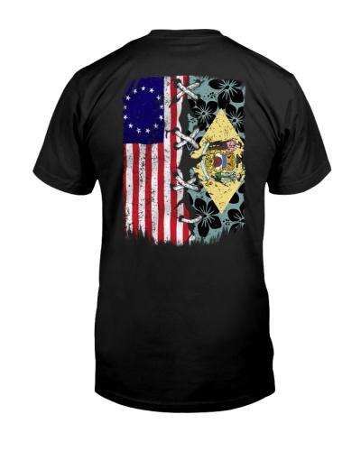 Delaware and American flag NG 0037