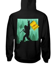 New Mexico - Bigfoot Flag 2 sides Hooded Sweatshirt back