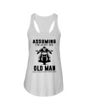 motorcycle old man Ladies Flowy Tank thumbnail