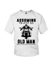 motorcycle old man Youth T-Shirt thumbnail