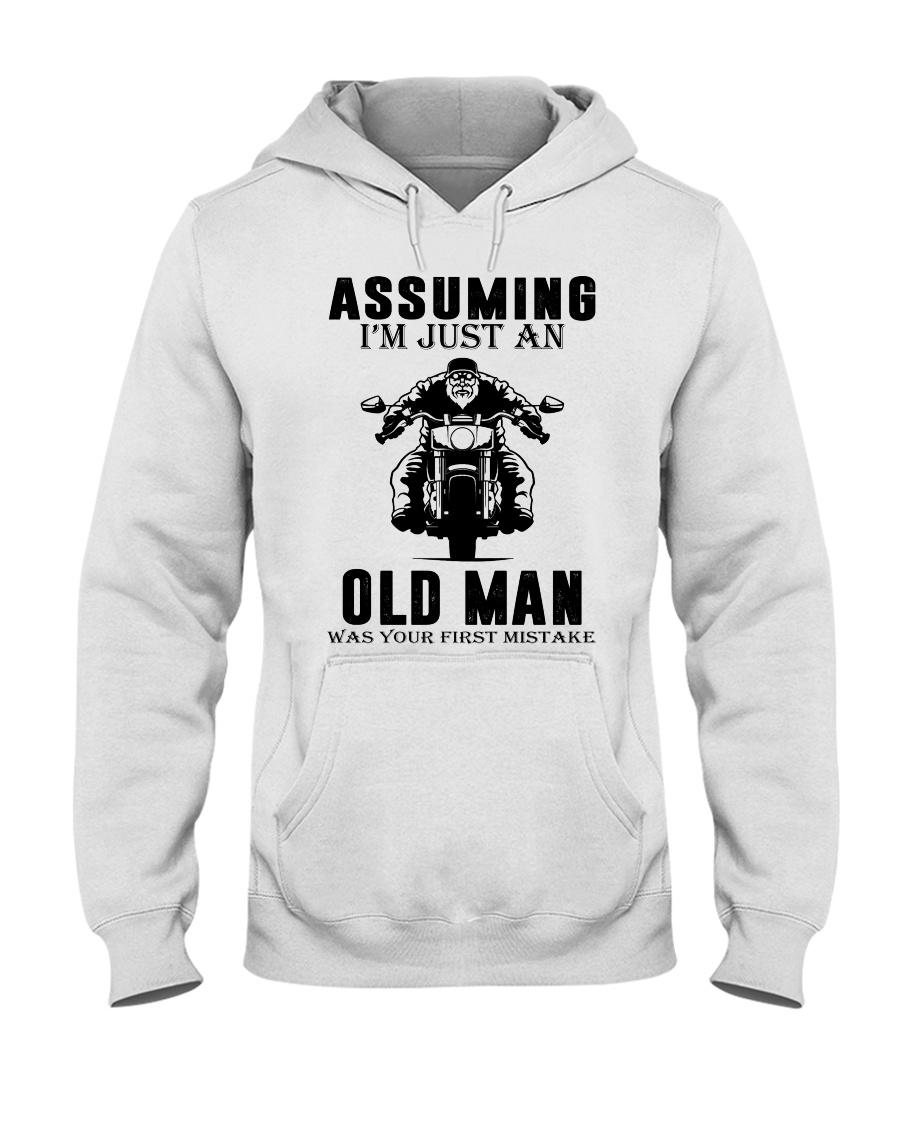 motorcycle old man Hooded Sweatshirt