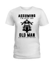 motorcycle old man Ladies T-Shirt thumbnail