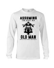 motorcycle old man Long Sleeve Tee thumbnail