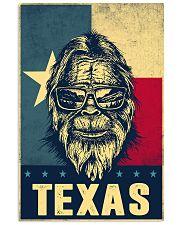 Bigfoot Texas flag 24x36 Poster front