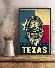 Bigfoot Texas flag 24x36 Poster lifestyle-poster-3