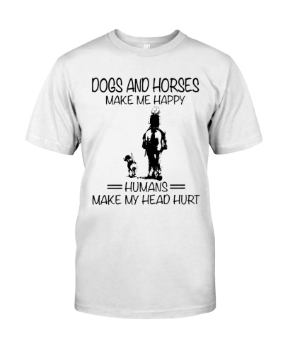 Dogs and horses make me happy - Year end sale
