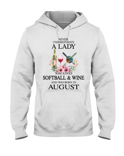 Softball Wine Never Underestimate a Lady - August