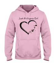 Just A Virginia Girl Hooded Sweatshirt front