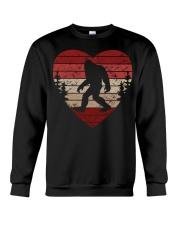 Vintage retro style bigfoot heart Crewneck Sweatshirt thumbnail