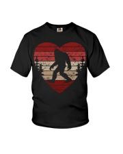 Vintage retro style bigfoot heart Youth T-Shirt thumbnail