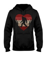 Vintage retro style bigfoot heart Hooded Sweatshirt front