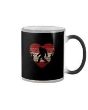 Vintage retro style bigfoot heart Color Changing Mug thumbnail