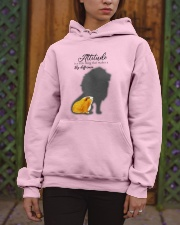 Attitude is a little thing making a big difference Hooded Sweatshirt apparel-hooded-sweatshirt-lifestyle-front-03